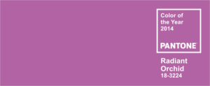 Radiant Orchid ~ Pantone 2014 Color of the Year