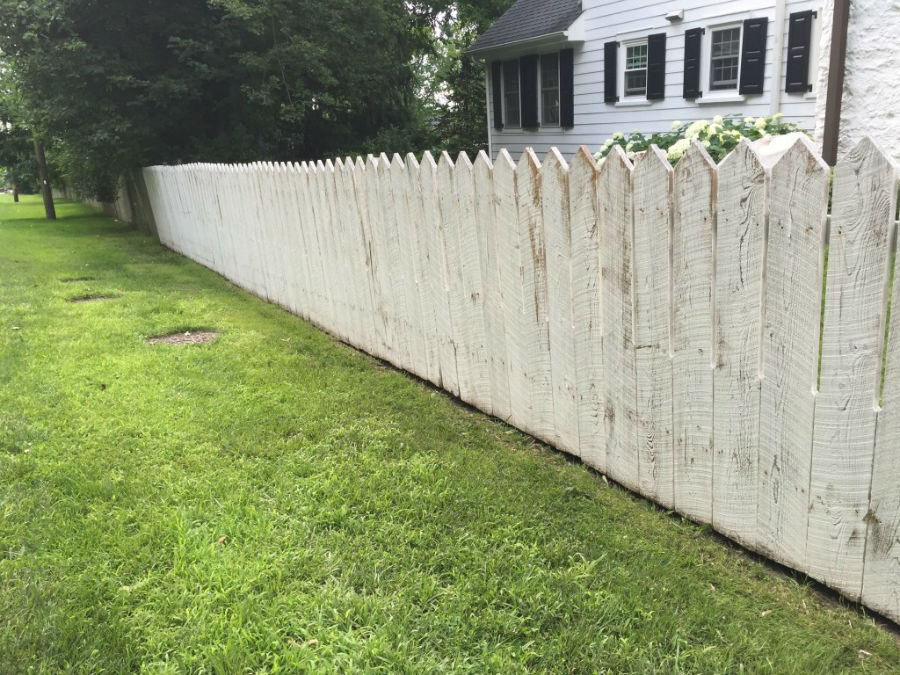 Painting the White Picket Fence ~ Before Pic