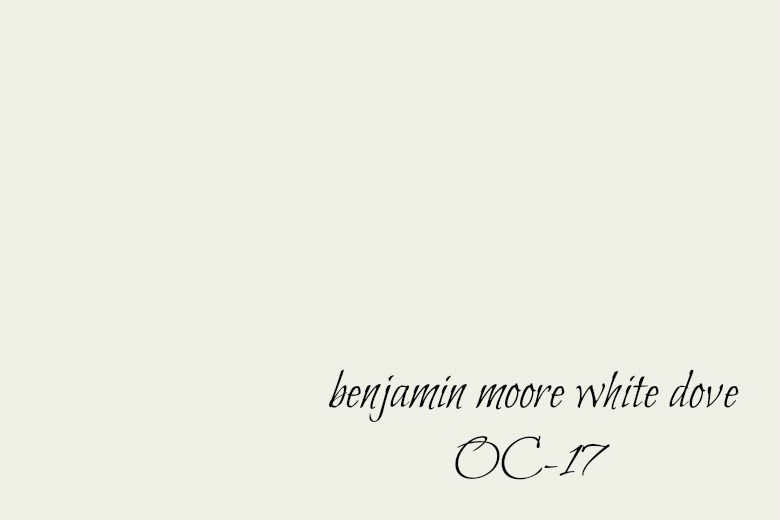 One of Our Favorite Whites ~ Benjamin Moore Dove White OC 17