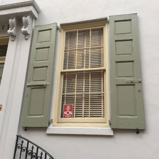 Shutter Repair Job in Society Hill
