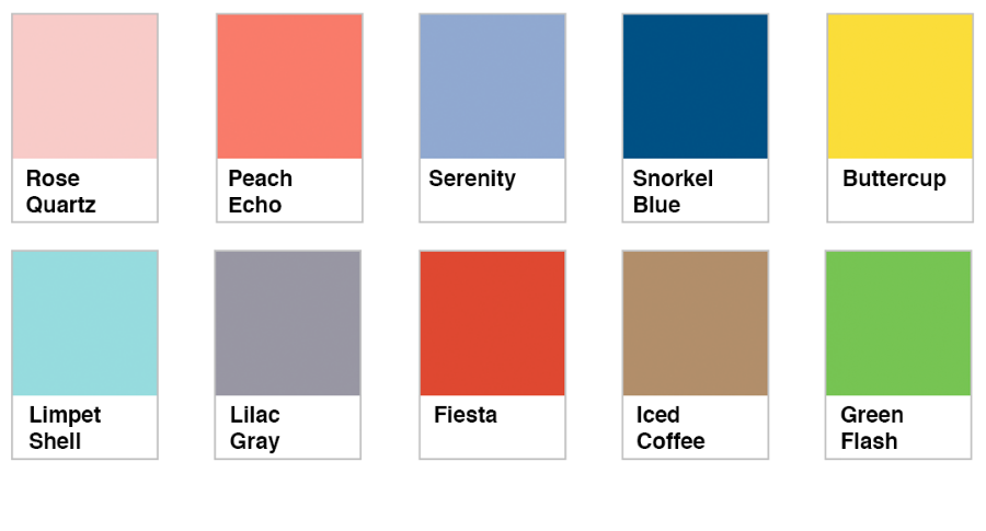 Pantone Spring Summer 2016 Colors