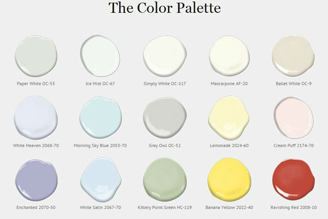 Benjamin moore historical color palette pictures to pin on for Color palette com