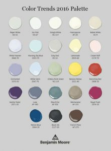 2016 Color Trends Benjamin Moore