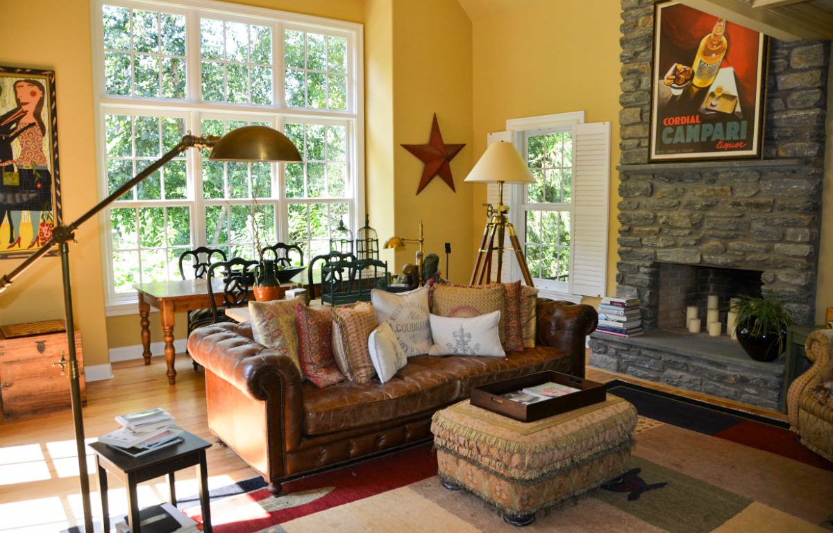 Yellow Family Room by John Neill Painting and Decorating of Philadelphia